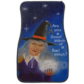 Halloween witch themed car mats,crystal ball,stars floor mat