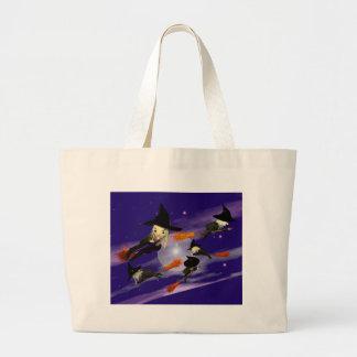 Halloween Witch Traffic Jumbo Tote Bag