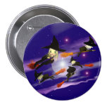 Halloween Witch Traffic Pins
