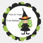 Halloween Witch Treat Bag Sticker Personalized