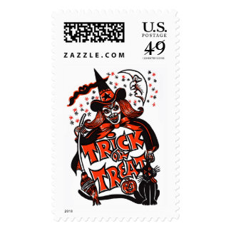 Halloween Witch Trick or Treat Stamp