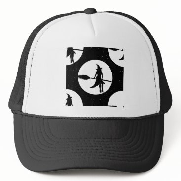 Halloween Themed halloween witch trucker hat
