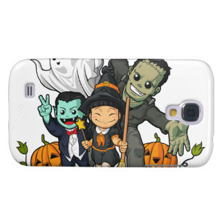 Halloween Witch, Vampire, Frankenstein & Ghost Samsung S4 Case