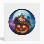 """""""Halloween Witch"""" Vinyl Binder"""