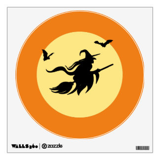 Halloween witch wall decal