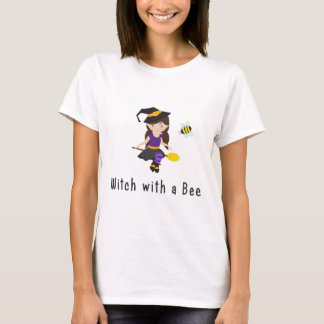 Halloween Witch with a Bee T-Shirt