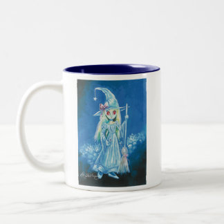 Halloween Witch With Big Red Eyes Coffee Mugs