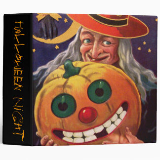 Halloween Witch with Funny Pumpkin Binder