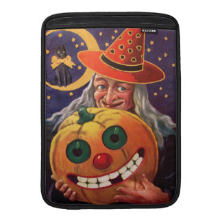 Halloween Witch with Funny Pumpkin Sleeve For MacBook Air