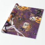 """Halloween Witch Wrapping Paper<br><div class=""""desc"""">This """"Halloween Witch"""" theme is  available in different products.  Feel free to contact me if you want it in other products.</div>"""