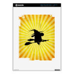 Halloween Witch; yellow iPad 3 Decals