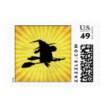 Halloween Witch; yellow Stamps