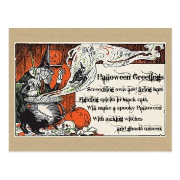 Halloween Themed Halloween Witchery postcards, Halloween Postcard