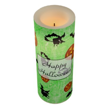 Halloween Themed Halloween Witches Bats Pumpkins LED Candle