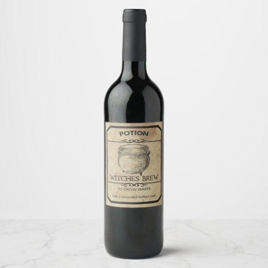 Halloween Witches Brew Apothecary Wine Label | Zazzle com