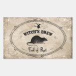 Halloween Witches Brew Ingredient - Tail of Rat Rectangular Sticker