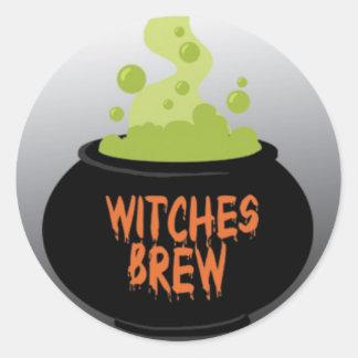 Halloween Witches Brew.jpg Classic Round Sticker