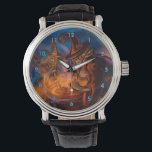 """Halloween Witches Brew Wrist Watch<br><div class=""""desc"""">Two witches stirring up a tantalizing love potion for Halloween. For the full-time Halloween lover or your favorite witch.</div>"""