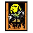 Halloween Witches Cauldron Post Card