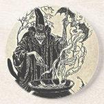 "Halloween Witches Cauldron Sandstone Coaster<br><div class=""desc"">Double Double Toil and Trouble Fire Burn and Cauldron Bubble</div>"