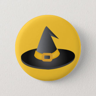 Halloween Witches Hat Pinback Button