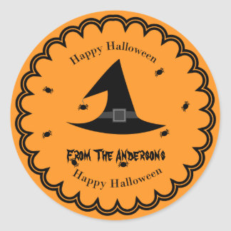 Halloween Witches hat  scary Sticker