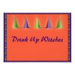 Halloween Witches Hats Invitation