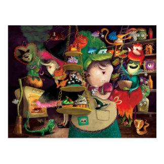 Halloween Witches Kitchen Postcard