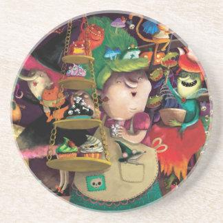 Halloween Witches Kitchen Sandstone Coaster