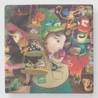 Halloween Witches Kitchen Stone Coaster