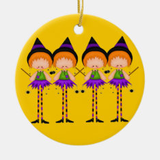 Halloween Witches Ornament at Zazzle