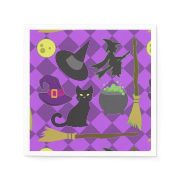 Halloween Themed Halloween Witches Paper Napkin