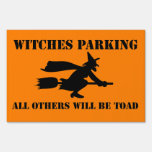 Halloween Witches Parking Humor Yard Sign