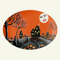 Halloween witches serving platter