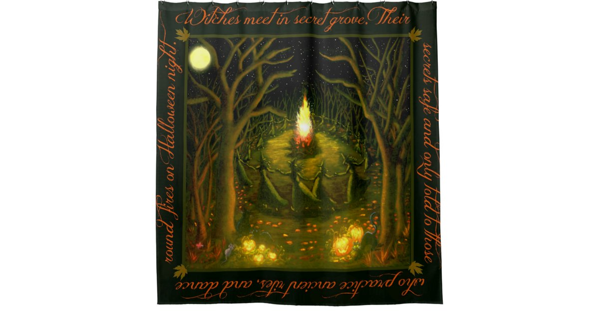 Halloween Witches Shower Curtain Zazzle