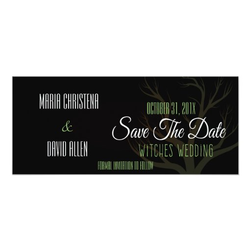 Halloween Witches Wedding Save The Date Card