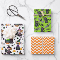 Halloween Witches  Wrapping Paper Sheets