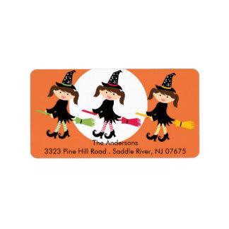 Halloween Witchs Return Address Label