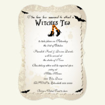 Halloween Witchs' Tea Party Invitation