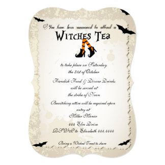 Halloween Witchs' Tea Party Invitation
