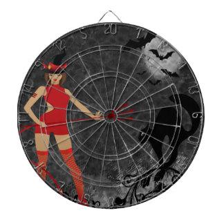 Halloween Witchy Devil Girl Dart Board
