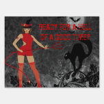 Halloween Witchy Devil Girl Signs