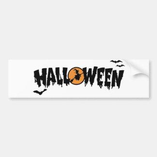Halloween with moon bumper sticker