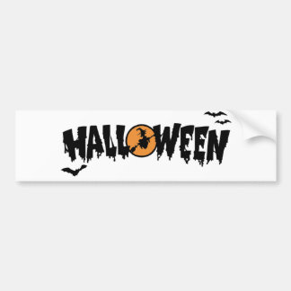 Halloween with moon bumper stickers