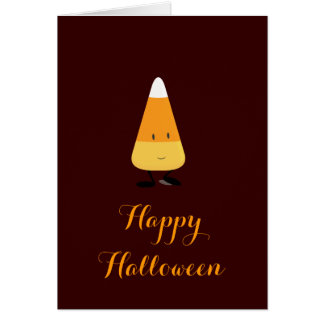 Halloween with Smiling Candy Corn Card