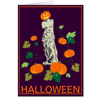 Halloween with Venus Card