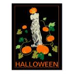 Halloween with Venus Postcard