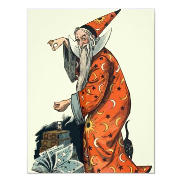 Halloween Themed Halloween Wizard Card