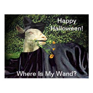 Halloween Wizard Goat Postcard
