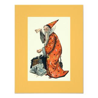 Halloween Wizard 4.25x5.5 Paper Invitation Card